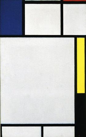 Piet Mondrian: Komposition in blau, rot, gelb und schwarz