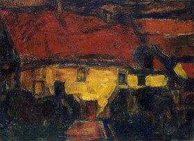 Christian Rohlfs: Das gelbe Haus mit rotem Dach