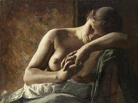 Wilhelm Altheim: Modellstudie eines schlafenden Mädchens