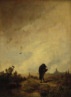 Carl Spitzweg: Der Rabe