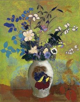 Odilon Redon: Blumen in einer Vase mit japanischem Krieger