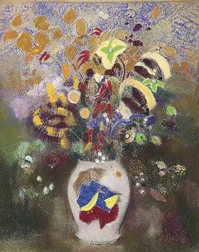 Odilon Redon: Blumenvase mit japanischem Krieger