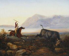 Johann Moritz Rugendas: Ein Gaucho bei der Stierjagd