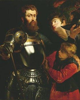 Peter Paul Rubens: Dreiviertelbildnis eines Feldherrn in Rüstung