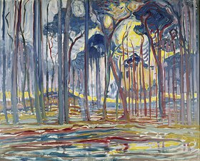 Piet Mondrian: Komposition in Farbe B