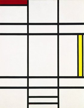 Piet Mondrian: Komposition mit Weiß, Rot und Gelb