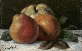 Gustave Courbet: Stillleben mit Apfel, Birne und Orange