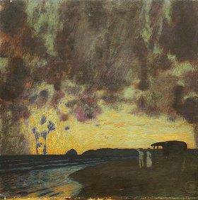 Franz von Stuck: Sonnenuntergang am Meer