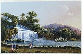 Neapolitanische Schule: Die großen Wasserfälle von Caserta