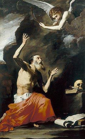 Jusepe de Ribera: Heiliger Hieronymus mit dem Engel des Jüngsten Gerichts