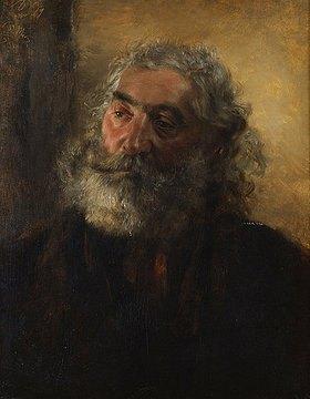 Adolph von Menzel: Portrait eines bärtigen Mannes