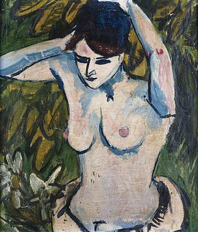 Ernst Ludwig Kirchner: Halbakt mit erhobenen Armen
