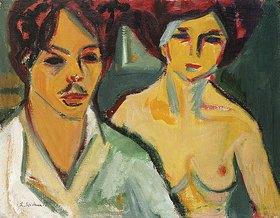 Ernst Ludwig Kirchner: Selbstbildnis mit Modell