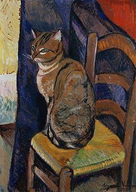 Suzanne Valadon: Skizze einer auf einem Stuhl sitzenden Katze