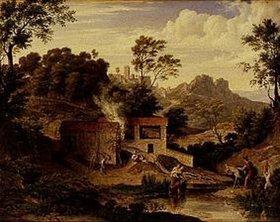 Joseph Anton Koch: Ziegelhütte bei Olevano