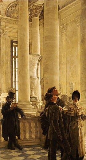 James Jacques Tissot: Im Treppenhaus des Louvre