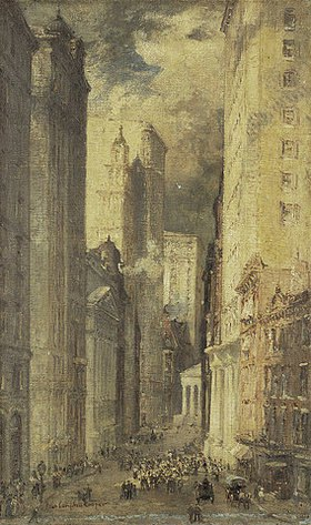 Colin Campbell Cooper: Financial District, Downtown Manhattan