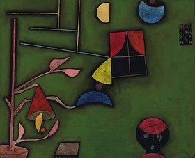 Paul Klee: Stillleben mit Pflanze und Fenster