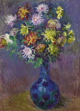 Claude Monet: Vase mit Chrysanthemen