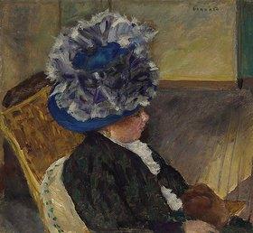 Pierre Bonnard: Junge Frau mit blauem Hut