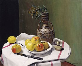 Felix Vallotton: Äpfel und eine marokkanische Vase