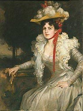 Friedrich August von Kaulbach: Bildnis der zweiten Frau Kaulbachs