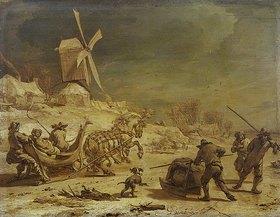 Nicolaes Berchem: Schlittenfahrt