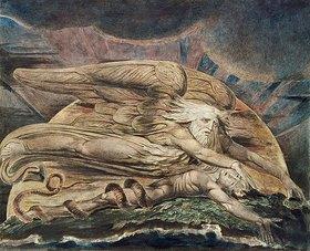 William Blake: Die Erschaffung des Adam. 1795/