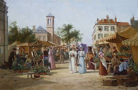 William Raymond Dommersen: Der Marktplatz in Limburg, Niederlande