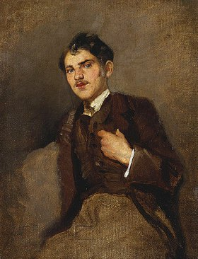 Wilhelm Leibl: Bildnis eines jungen Mannes