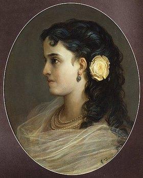 Gustave Doré: Adelina Patti (weibliches Brustbildnis)