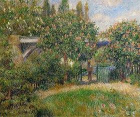 Auguste Renoir: Eisenbahnbrücke in Chatou