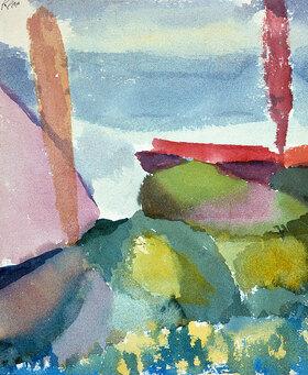 Paul Klee: Seeufer bei Regen