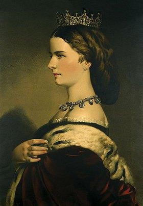 Eduard Kaiser: Portrait der Kaiserin Elisabeth von Österreich