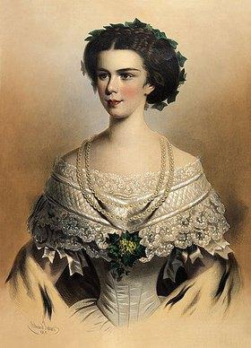 Eduard Kaiser: Portrait der jungen Kaiserin Elisabeth von Österreich