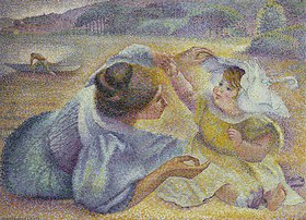 Henri Edmond Cross: Mutter und Kind am Strand