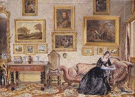William Henry Hunt: Schreibende Dame im Salon