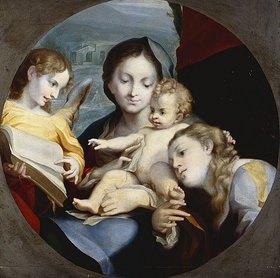 Correggio (Antonio Allegri): Madonna mit Kind, der hl. Katharina und einem Engel