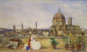 Thomas Hartley Cromek: Auf einer Terrasse  mit Blick über Florenz