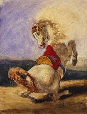 Eugene Delacroix: Aufbäumendes Pferd