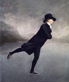 Sir Henry Raeburn: Pfarrer Robert Walker beim Eislaufen auf dem Duddingston Loch