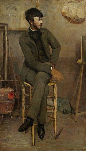 Ottilie Roederstein: Bildnis eines Künstlers in einem Pariser Atelier