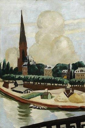 Max Beckmann: Mainufer und Kirche