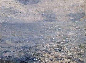 Emilio Boggio: Sonnenschein auf dem Meer (Studie)