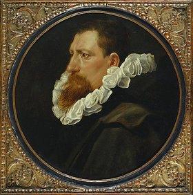 Peter Paul Rubens: Portrait eines Herren mit weißer Halskrause and grauem Mantel