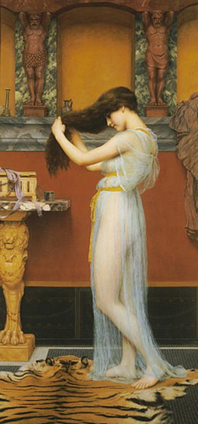 John William Godward: Die Toilette
