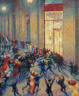 Umberto Boccioni: Aufruhr in der Galerie