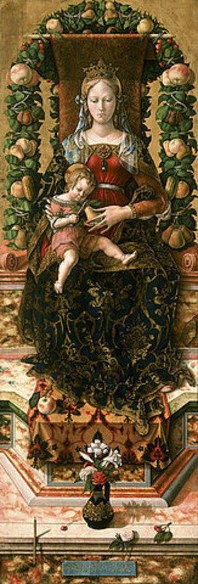 Carlo Crivelli: Die Madonna mit der kleinen Kerze (Madonna della Candeletta). 1490er