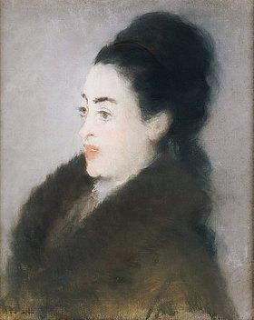 Edouard Manet: Dame in einem Pelzmantel