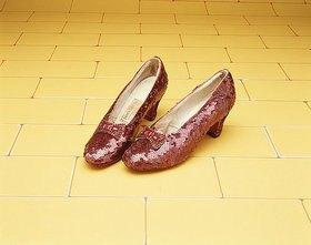 Rote Schuhe, die Judy Garland 1939 in dem Film 'Der Zauberer von Oz' trug